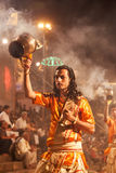 Ganga Aarti ritual Royalty Free Stock Images