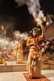 Ganga Aarti ritual Stock Image