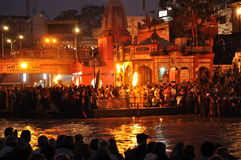 Ganga Aarti. Stock Photo