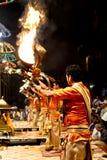 Ganga Aarti at Varanasi Royalty Free Stock Photos