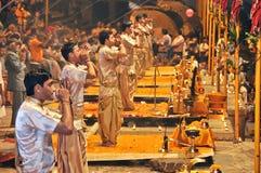 Ganga aarti at varanasi uttar pradesh india