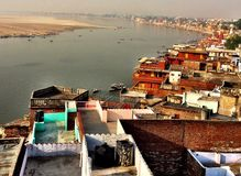 Colors of the Ganges. Amazing was the river of Faith in India royalty free stock photo