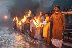 Ganga Arati royalty-vrije stock foto