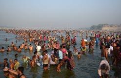 Ganga dussehra festival celebration in Allahabad Royalty Free Stock Photos