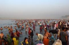 Ganga Dussehra festiwal Fotografia Stock