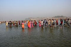 Ganga Dussehra festiwalu świętowanie Obraz Stock