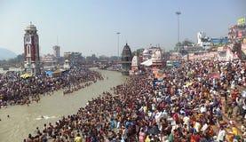 Ganga Dusshera, Har Ki Paudi, Haridwar, Indien Stockfotos