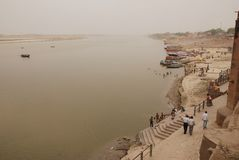 Ganga en Varanasi Fotografía de archivo libre de regalías