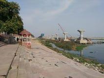 Ganga exp. way construction stock photos