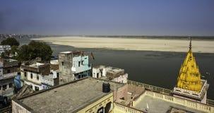 Ganga flod i Varanasi Fotografering för Bildbyråer