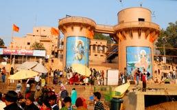 Ganga Ghat στο Varanasi Στοκ εικόνα με δικαίωμα ελεύθερης χρήσης