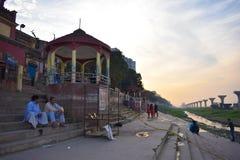 Ganga ghat arkivbilder