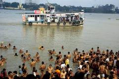 ganga kolkata zanieczyszczenia rzeka Zdjęcie Stock