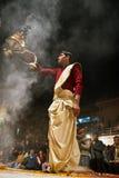 Ganga maha aarti ceremony Stock Image