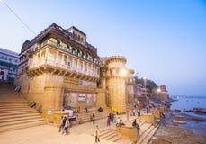 Ganga Mahal ghat Royalty Free Stock Photos