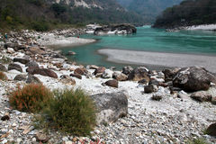 Ganga in the mountains Royalty Free Stock Images