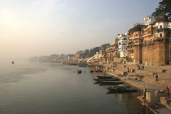 Ganga river. Kind on the river Gang Stock Images