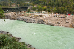 Ganga River at the begining of Himalaya Mountains near to Rishik Royalty Free Stock Photography