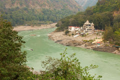 Ganga River at the begining of Himalaya Mountains near to Rishik Royalty Free Stock Images