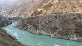 Ganga river flow in mountain terrain