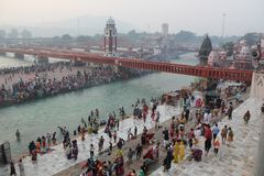 Ganga River at Haridwar, India Royalty Free Stock Photos