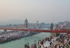 Ganga River at Haridwar, India Stock Photo