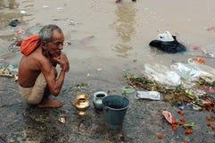 Ganga River Pollution In Kolkata. Royalty Free Stock Photo