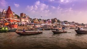 Ganga River, Varanasi, India Royalty Free Stock Image