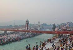 Ganga rzeka przy Haridwar, India Zdjęcie Stock