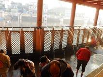 Ganga rzeki skąpanie przy Gokul Vrindavan obraz royalty free