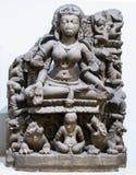 Ganga stenskulptur Indien arkivbilder