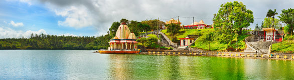 Ganga Talao. Mauritius. Panorama Stock Photo