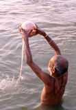 Ganga Worship Stock Photography