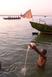 Ganga Worship Royalty Free Stock Photos