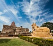 Gangai Konda Cholapuram Temple. Tamil Nadu, India. Hindu temple Gangai Konda Cholapuram with giant statue of bull Nandi. Tamil Nadu, India Stock Photography