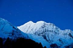 Gangapurna and Annapurna mountains Royalty Free Stock Photos
