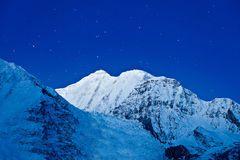 Gangapurna and Annapurna mountains Royalty Free Stock Photos