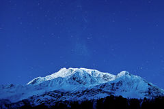 Gangapurna i Annapurna góry Zdjęcia Royalty Free