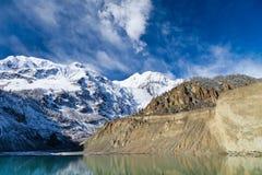 Gangapurna lake, Himalaya Royalty Free Stock Photo