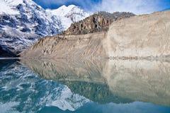 Gangapurna lake, Himalaya Royalty Free Stock Image