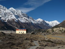 Gangapurna, Tilicho Peak and monastry Stock Photos