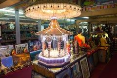 Gangaramaya寺庙在科伦坡 库存图片