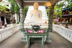 Gangaramaya Temple in Colombo Stock Photo