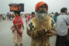Gangasagar Festival In India. Royalty Free Stock Photo