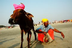 Gangasagar Festival In India. Royalty Free Stock Photography
