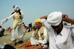 Gangasagar Festival in Indien. Lizenzfreie Stockfotos