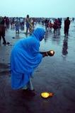 Gangasagar Festival in Indien. Stockfotos