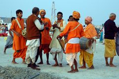 Gangasagar Festival in Indien. Lizenzfreies Stockbild