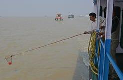 Gangasagar transport Zdjęcia Royalty Free