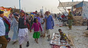 Gangasagarfestival Royalty-vrije Stock Foto's